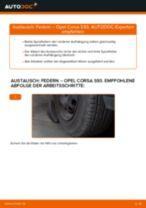 OPEL CORSA B (73_, 78_, 79_) Bremsbeläge wechseln vorderachse und hinterachse Anleitung pdf