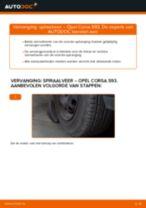 Hoe spiraalveer vooraan vervangen bij een Opel Corsa S93 – vervangingshandleiding