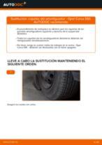 Cómo cambiar: copelas del amortiguador de la parte delantera - Opel Corsa S93 | Guía de sustitución