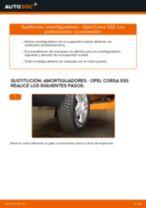 Cómo cambiar: amortiguadores de la parte trasera - Opel Corsa S93 | Guía de sustitución