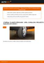 Jak vyměnit zadní tlumiče pérování na Opel Corsa S93 – návod k výměně