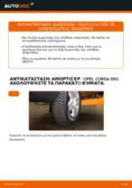 Πώς να αλλάξετε αμορτισέρ πίσω σε Opel Corsa S93 - Οδηγίες αντικατάστασης