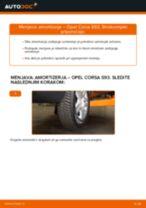 Menjava zadaj in spredaj Blažilnik OPEL naredi sam - navodila pdf na spletu