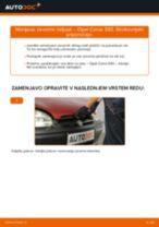 Kako zamenjati avtodel zavorne čeljusti zadaj na avtu Opel Corsa S93 – vodnik menjave
