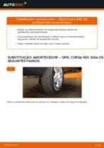 Como mudar amortecedores da parte traseira em Opel Corsa S93 - guia de substituição