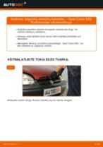 OPEL CORSA Stabdžių trinkelių komplektas keitimas: nemokamas pdf