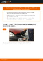 Cómo cambiar: zapatas de freno de la parte trasera - Opel Corsa S93 | Guía de sustitución