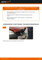 Slik bytter du bremsesko bak på en Opel Corsa S93 – veiledning