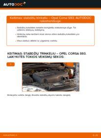 Kaip atlikti keitimą: 1.0 i 12V (F08, F68, M68) Opel Corsa S93 Stabdžių Kaladėlės