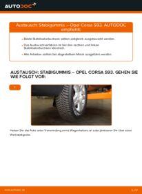 Wie der Wechsel durchführt wird: Stabigummis 1.0 i 12V (F08, F68, M68) Opel Corsa B tauschen