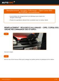 Comment effectuer un remplacement de Bougies d'Allumage sur 1.0 i 12V (F08, F68, M68) Opel Corsa B