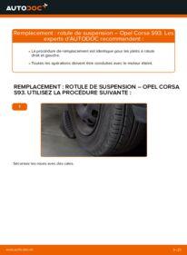 Comment effectuer un remplacement de Rotule de Suspension sur 1.0 i 12V (F08, F68, M68) Opel Corsa B