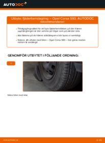 Så byter du Fjäderbenslagring på 1.0 i 12V (F08, F68, M68) Opel Corsa S93