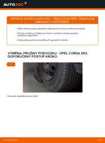 Jak provést výměnu: Odpruzeni na 1.0 i 12V (F08, F68, M68) Opel Corsa S93