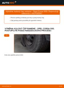 Jak provést výměnu: Kulový Čep Ramene na 1.0 i 12V (F08, F68, M68) Opel Corsa S93
