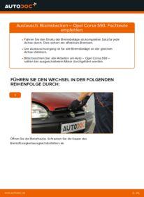 Wie der Wechsel durchführt wird: Bremsbacken 1.0 i 12V (F08, F68, M68) Opel Corsa B tauschen