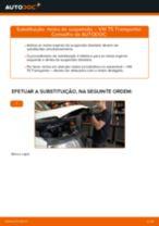 Mudar Molas de compressão dianteiro esquerdo direito VW faça você mesmo - manual online pdf