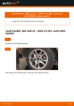 BMW X3 Sõidudünaamika reguleerimine vahetamine: juhend online