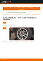 Tiešsaistes bezmaksas instrukcijas kā mainīties Kustības dinamikas regulēšana BMW X3 (E83)