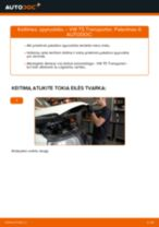 Montavimo Remonto Komplektas Stabdžių Apkaba VW TRANSPORTER V Box (7HA, 7HH, 7EA, 7EH) - žingsnis po žingsnio instrukcijos