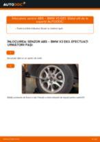 Instrucțiunile online gratuite cum să reînnoiți Senzor turatie roata BMW X3 (E83)