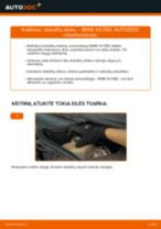 BMW X3 remonto ir priežiūros instrukcija