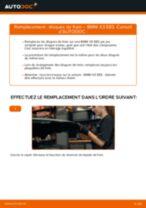 Comment changer et régler Disque BMW X3 : tutoriel pdf
