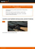 Kuinka vaihtaa jarrupalat eteen BMW X3 E83-autoon – vaihto-ohje