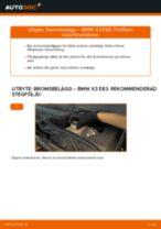 Byta bromsbelägg bak på BMW X3 E83 – utbytesguide