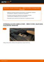 Jak zmienić Komplet klocków hamulcowych BMW X3: darmowy pdf