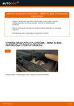 Ako vymeniť zadné brzdové platničky na BMW X3 E83 – návod na výmenu