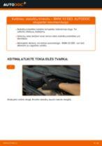 BMW X3 (E83) priekyje ir gale Stabdžių Kaladėlės pakeisti: žinynai pdf
