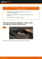 Žingsnis po žingsnio pakeiskite BMW X3 (E83) Stabdžių Kaladėlės PDF vadovas