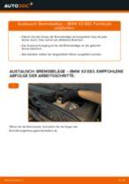 Bremsbeläge auswechseln BMW X3: Werkstatthandbuch