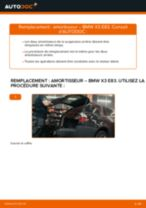 PDF manuel de remplacement: Amortisseur BMW X3 (E83) arrière + avant