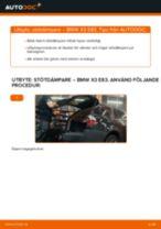 Steg-för-steg-guide i PDF om att byta Stötdämpare i BMW X3 (E83)