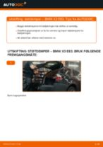 Skifte Fjærbein BMW X3: gratis pdf