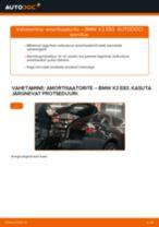 Online käsiraamat Amort iseseisva asendamise kohta BMW 1600 GT