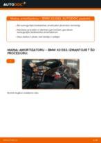 BMW X3 instrukcijas par remontu un apkopi