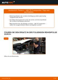 Wie der Wechsel durchführt wird: Federn 2.5 TDI VW T5 Kasten tauschen