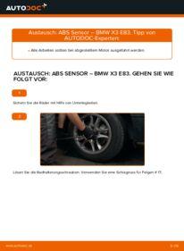 Wie der Wechsel durchführt wird: ABS Sensor 2.0 d BMW X3 E83 tauschen