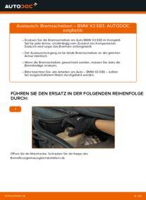 Wie der Wechsel durchführt wird: Bremsscheiben 2.0 d BMW X3 E83 tauschen