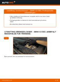 Slik bytter du Bremseklosser på BMW X3