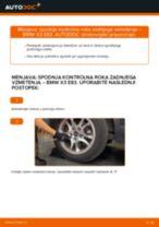 Kako zamenjati avtodel spodnja kontrolna roka zadnjega vzmetenja na avtu BMW X3 E83 – vodnik menjave