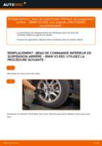 Comment changer : bras de commande inférieur de suspension arrière sur BMW X3 E83 - Guide de remplacement