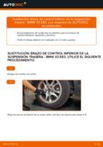 Cómo cambiar: brazo de control inferior de la suspensión trasera - BMW X3 E83 | Guía de sustitución