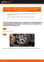 Come cambiare è regolare Braccio sospensione BMW X3: pdf tutorial