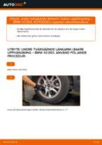 Laga Länkarm BMW X3: verkstadshandbok