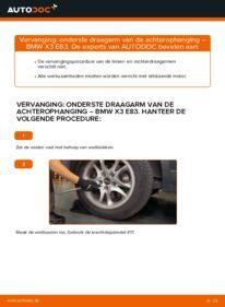 Vervangen: Draagarm BMW X3