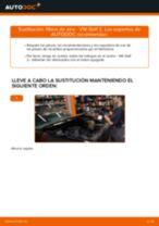 Cómo cambiar: filtros de aire - VW Golf 2 | Guía de sustitución